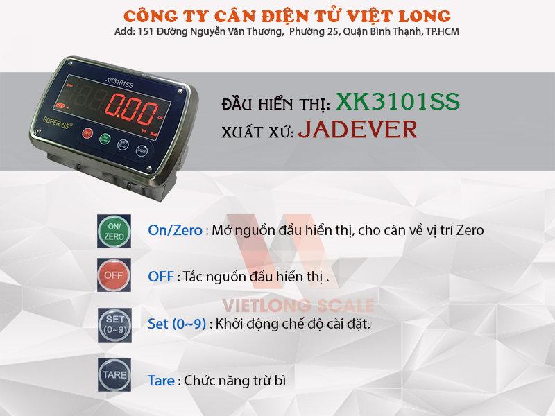 Thông số kỹ thuật cân sàn inox kx310ss